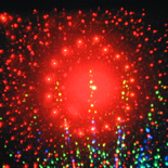 Schouwspel met laserdiffractie