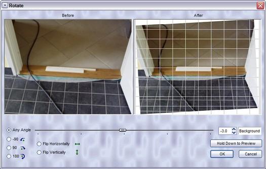 Verbeterde 'roteren onder elke hoek' in FastStone Image Viewer versie 3.2 (resized)