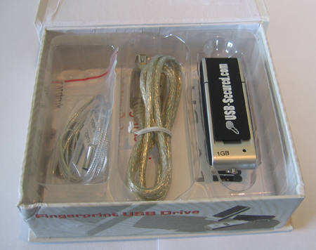 USB-Secured.com doos met zilveren stick