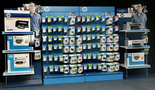 HP-stand met inktcartridges