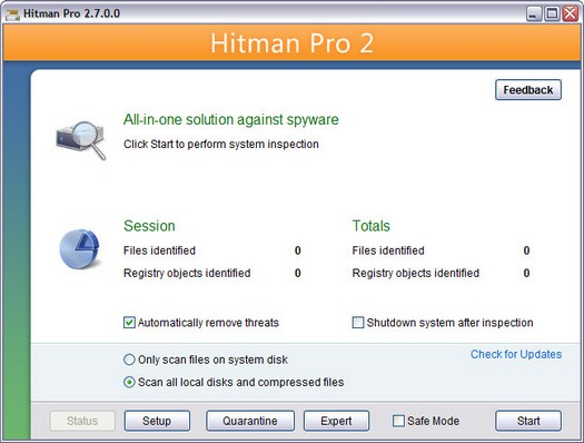 Hitman Pro 2.7.0.0 screenshot (resized)