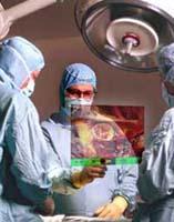 Holografisch scherm bij operatie