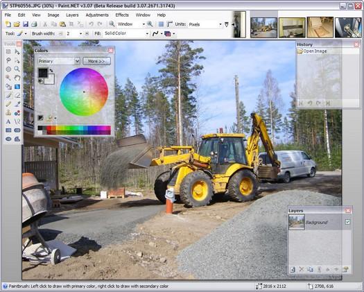 Paint.NET 3.07 beta screenshot (resized)
