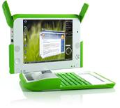 Mockup van OLPC met Vista