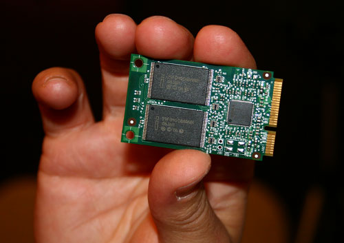 Intel Turbo Memory (Robson) module in hand