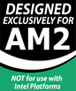 'Designed exclusively for AM2'-logo van OCZ