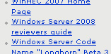 WinHec-screenshot (uitsnede): Windows Server 2008-aankondiging