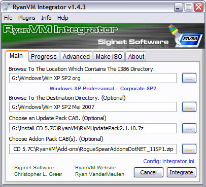 RyanVM's Post-SP2 Update Pack 2.1.10 screenshot