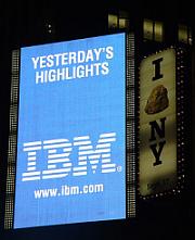 IBM logo neon