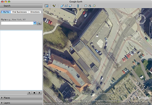 Tweakers.net HQ in Google Earth