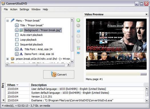 ConvertXtoDVD 2.2.0.251 screenshot (resized)