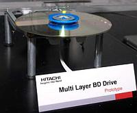 Hitachi multiple layer blu-ray drive