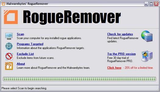 RogueRemover 1.19 screenshot (resized)