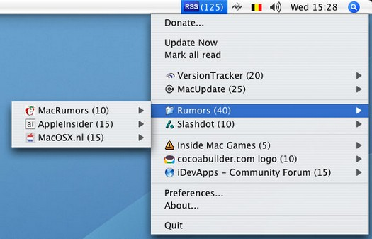 RSS Menu screenshot (resized)