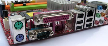 MSI P35 Neo-FI-moederbord close-up