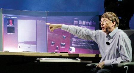 Bill Gates achter innovatief desktopsysteem
