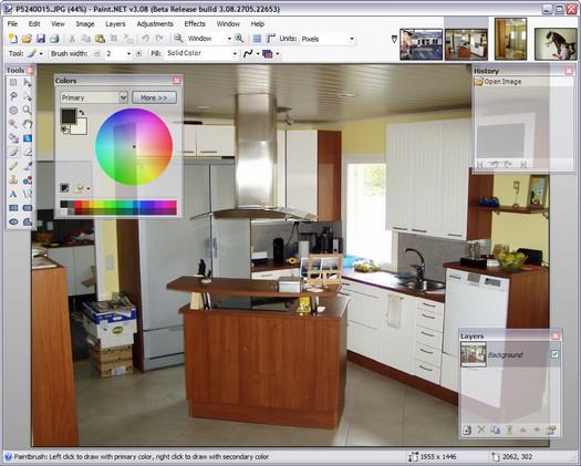 Paint.NET 3.08 beta screenshot (resized)