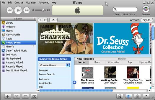 Apple iTunes screenshot (resized)
