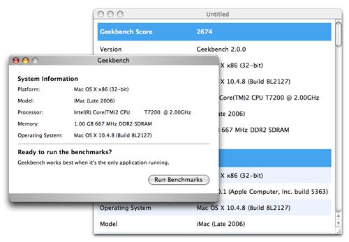 Geekbench 2.0.0
