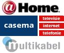 Casema-, @Home- en Multikabel-logo's
