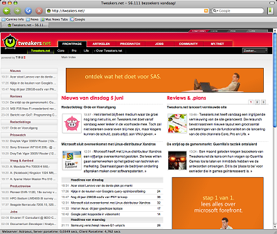 Mozilla Camino 1.5 - Tweakers.net