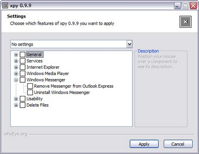 xpy 0.9.9 screenshot (410 pix)