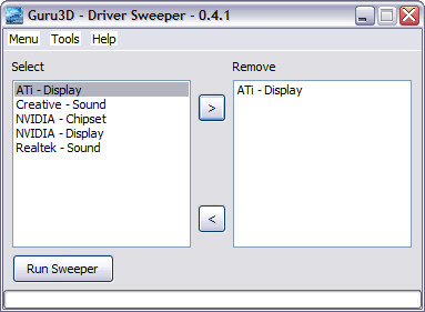 Driver Sweeper 0.4.1 screenshot