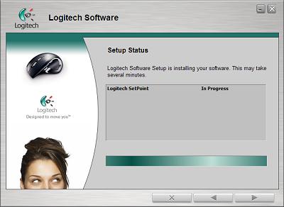 Logitech SetPoint 4.00 - installatiescherm (400px)