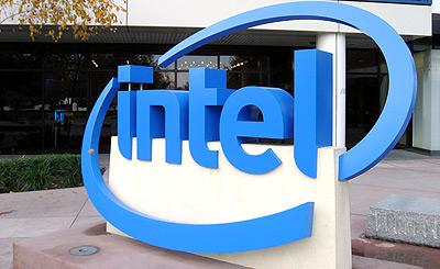 Intel-logo voor gebouw