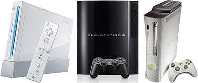 Nintendo Wii, Sony PlayStation 3 en Microsoft Xbox 360 (400px)