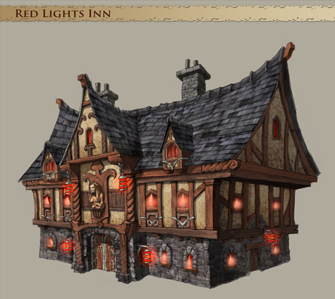 Overlord-preview: artwork Red Lights Inn