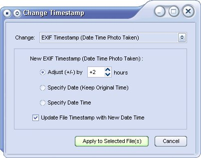 FastStone Image Viewer 3.3 beta 2 - aanpassen timestamp in EXIF data