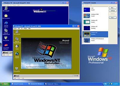 Verschillende Windows-versies in Virtual PC