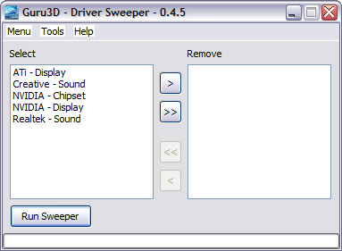 Driver Sweeper 0.4.5 screenshot