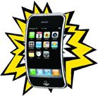 Explosief iPhone-plaatje