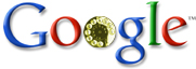 Google-logo met telefoondraaischijf