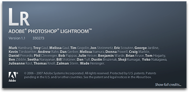 Adobe Photoshop Lightroom 1.1 - splash (klein)