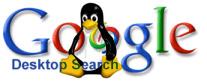 Google Desktop-logo met Tux
