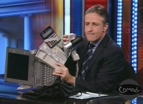 iPhone-persiflage in The Daily Show With Jon Stewart