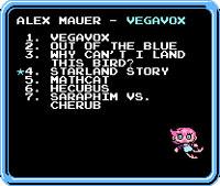 Vegavox - menu