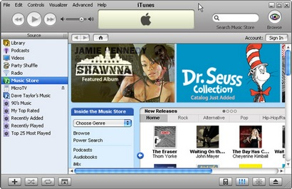 Apple iTunes 7 screenshot (410 pix)