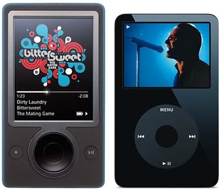 Zune en iPod