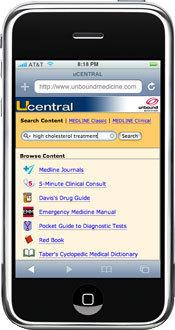 Apple iPhone - Medische applicatie van Unbound