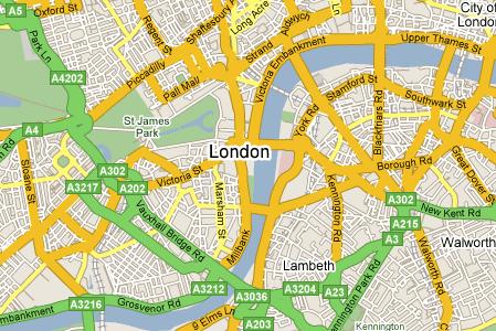Kaart Londen