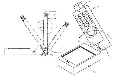Samsungs mobieltje met/als joystick