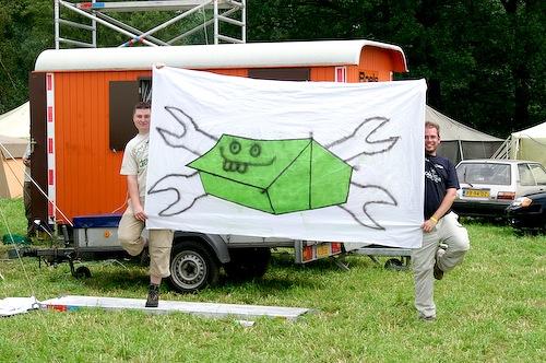 Campzone 2007 - vlag van Tweakers@Campzone