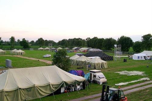 Campzone 2007 - opbouw WallyLAN en crewveld