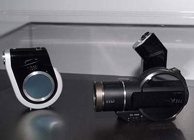 Mock-up van Hitachi hd-camcorder