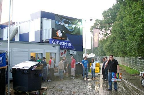 Campzone 2007 - modderige incheck