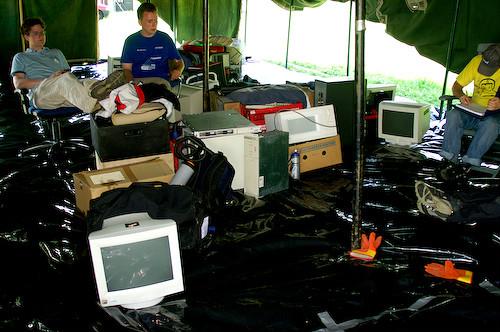 Campzone 2007 - rommelige tent